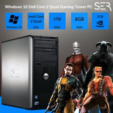 Windows 10 Dell Core 2 Quad Gaming Tower PC Computer - 8GB RAM - 1000GB - HDMI