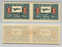 Lithuania, 1921, SC C5a, mint, imperf, pair. c9056