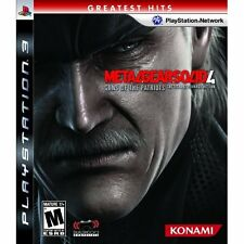 Metal Gear Solid 4: Guns Of The Patriots With Case For PS3 Very Good 5Z