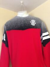 PARISH NATION CREW NECK L/S RED SWEATSHIRT SIZE 2XL, XXL