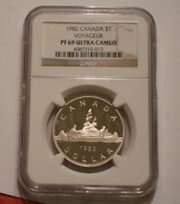 1982 Voyageur One Dollar of Canada NGC PF 69 ULTRA CAMEO