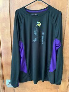 Minnesota Vikings Men's XXL Long-Sleeve T-Shirt Majestic Coolbase NFL
