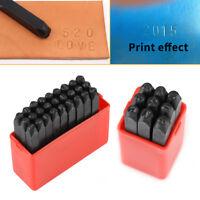 Letter & Number Stamp Punch Set Steel Metal Leather Craft Tool DIY 3MM/4MM/6MM
