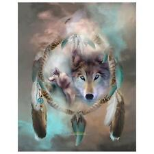 DIY 5D Mosaic Diamond Wolf Resin Embroidery Painting Cross Stitch Kit Home Decor
