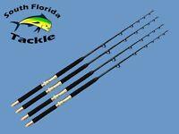 Four Pack 20-30 Lb Solid Fiberglass Blank Saltwater Trolling Fishing Rods