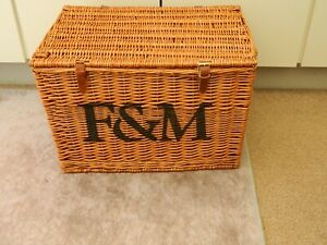 fortnum and mason extra large wicker hamper basket storage/coffee table etc.