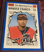 Wander Franco 2019 Topps Heritage Minors Sporting News Blue #d / 99, Card # 190