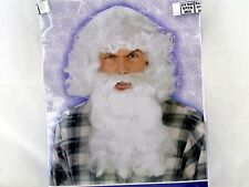 Old Man Adult Character White Wig and Beard WIZARD EVIL SANTA