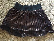 NWT TAKARA  GLITTER GIRL Copper TIERED    full short skirt SZ M