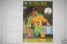 Norwich v Derby Programme 21st Oct 2003
