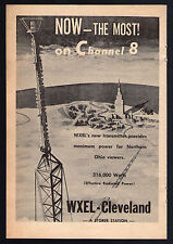 1955 WXEL tv ad ~ New Transmitter in Southern Ohio/Cleveland/A Storer Station
