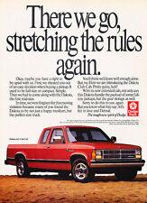 1990 Dodge Dakota Truck - Stretching - Classic Vintage Advertisement Ad D89