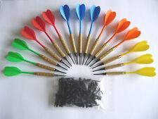15 flechettes darts à pointes plastiques + 100 pointes