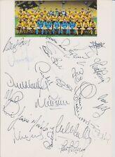 WOLVERHAMPTON WANDERERS 1992-1993 ORIG HAND SIGNED TEAM CARD 21 X SIGNATURES