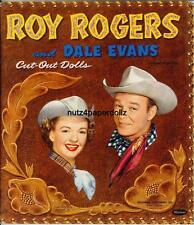 Vintge 1954 Roy Rogers Dale Paper Doll ~Whitman~Nice Lasr Repro~Org Size Uncut