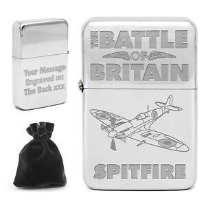 Personalised Battle of Britain Lighter Spitfire Hurricane Lancaster WW2 Memorial