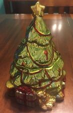 """A Christmas Story"" Susan Winget Portmeirion Studio - TREE TREAT JAR"
