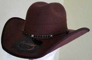 BROWN  WESTERN COWBOY HAT, THE OLD BERISTAIN LUXURY STYLE, VAQUERO DE LUJO