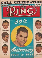 THE RING MAGAZINE JACK DEMPSEY BOXING HOFer-30th ANNIVERSARY ISSUE MARCH 1952