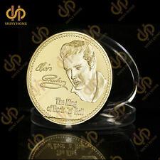 1935-1977 Elvis Presley Gold Coin The King Of Rock Music Legend Medallion