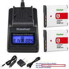 Kastar Battery LCD Fast Charger for Sony NP-BG1 FG1 NPBG1 NPFG1 Typr G Battery