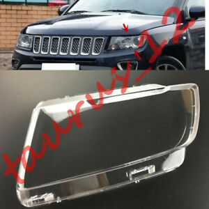 Left Side Transparent Headlight Cover+Glue Replace For JeeP Compass 11-2016-J