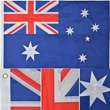 Australian Flag 2' x 3' Ft 210D Nylon Premium Outdoor Embroidered Australia Flag