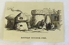 1883 small magazine engraving ~ EGYPTIAN OUT-DOOR OVEN