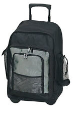 Classic Carry On Wheels Rolling Dual Handle College School Student Backpack 4310