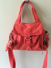 KIPLING ladies orange/red multi compartment handbag with shoulder strap