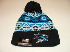 San Jose Sharks Cap Hat NHL Hockey New Era Beanie Toque Retro Chill Knit OSFM