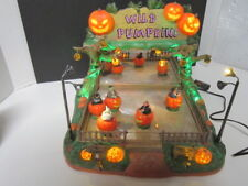 Rare Lemax Spooky Town WILD PUMPKIN Ride Halloween Witch Animated Retired