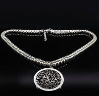 Halskette collier Edelstahl Baum des Lebens Lebensbaum Buddhismus Kraft Energie
