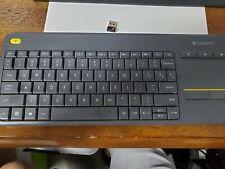 Logitech K400 Plus keyboard RF Wireless - Black with unifier dongle