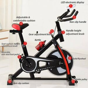 Indoor Exercise Bike Home Trainer Fitness Workout Exercise Machine Cycling Gym