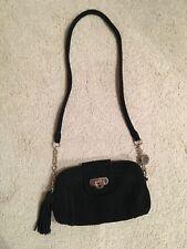 French Connection Black Suede Handbag