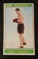 1967 PANINI #484 GENE TUNNEY CAMPIONI DELLO SPORT RARE BOXING CARD