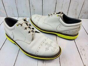 Nike Men's Lunar Clayton Golf Shoe Waterproof Leather Sz 9.5 628535-100 Rare
