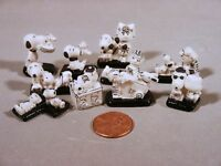 Snoopy, Charlie Brown, Peanuts Miniature French Porcelain Feves  Black & White