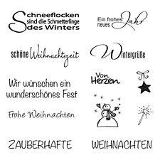 Motiv-Stempel Clear stamps Weihnacht Winter Texte Schriftzüge Rayher 59-841-000