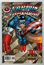 CAPTAIN AMERICA #1 - ROB LIEFELD ART & COVER - HEROES REBORN BEGINS  MARVEL/1996