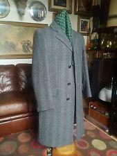 Quality Vintage Virgin Wool Crombie Over Coat,ivy Modernist Jazz,Buisness.Large