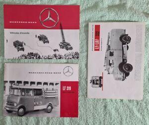 Lot de 3 Catalogues Mercedes-benz (Pompiers,véhicules d'incendie)