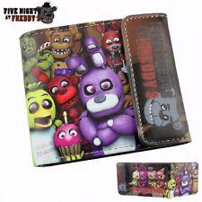 Five Nights at Freddy's Bifold Wallet Bonnie Chica Foxy Bear Holder Purse FNAF