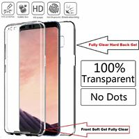 TRANSPARENT FRONT & BACK TPU PC PROTECTIVE PHONE CASE COVER FOR SAMSUNG GALAXY