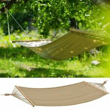 Design Hänge Matte Garten Camping Holz Liege Grundstück Relax Stuhl Möbel beige