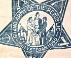 Vintage Antique 1860's Grand Army Of The Republic Banner G.A.R. Civil War