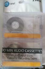 ONN 90-Minute Audio Cassette Blank Tapes, 2-Pack High Output