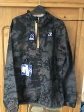K Way Le Vrai 3.0 Leon Graphic Camouflage HalfZip Jacket Cagoule Size Large Mens