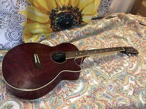Washburn EA18TR Acoustic Electric Guitar NICE